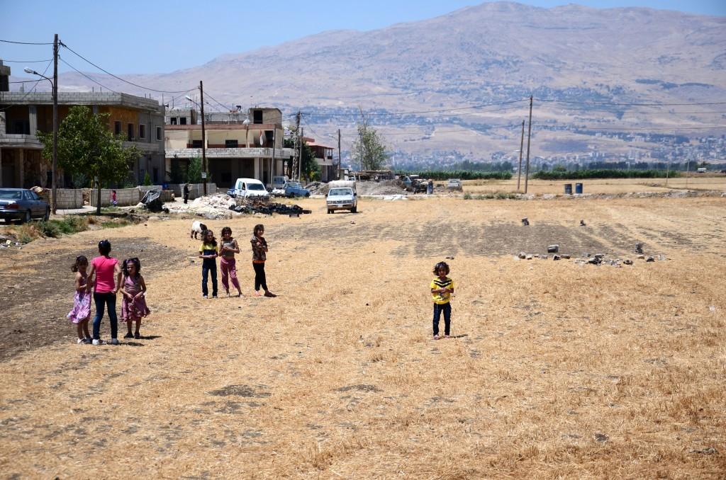 La vallée de la Bekaa, champ de réfugiés syriens. Crédit: Emmanuel Haddad