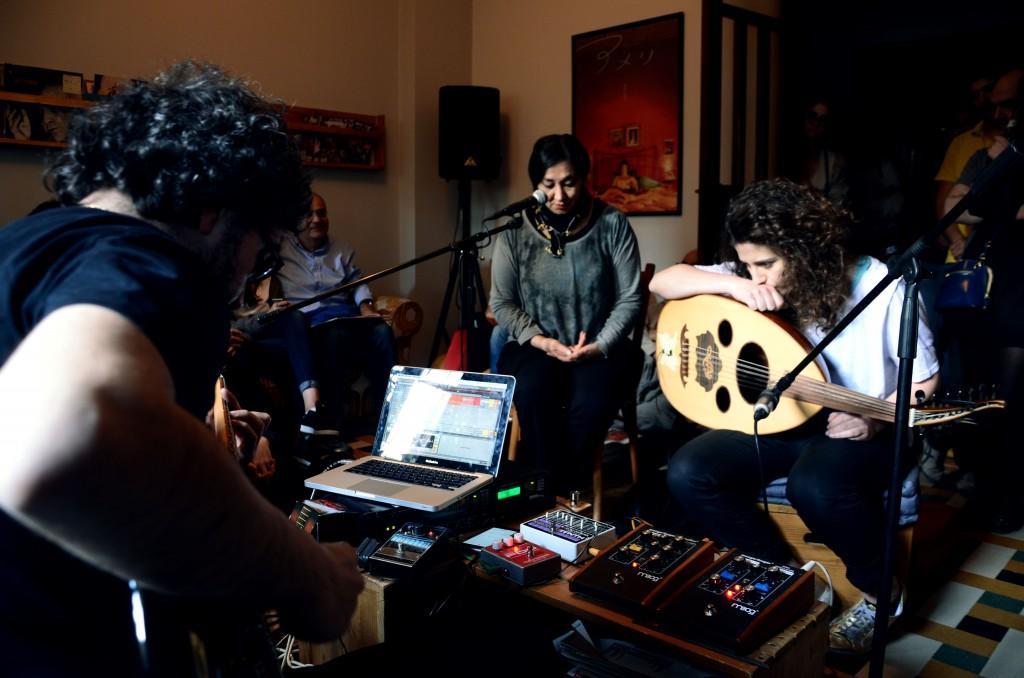 Youmna Saba et Fadi Tabbal rencontrent Saadet Türköz - crédit: Emmanuel Haddad